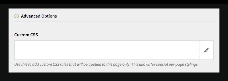Advanced Page Options