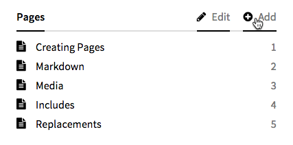 Page Subpages Section